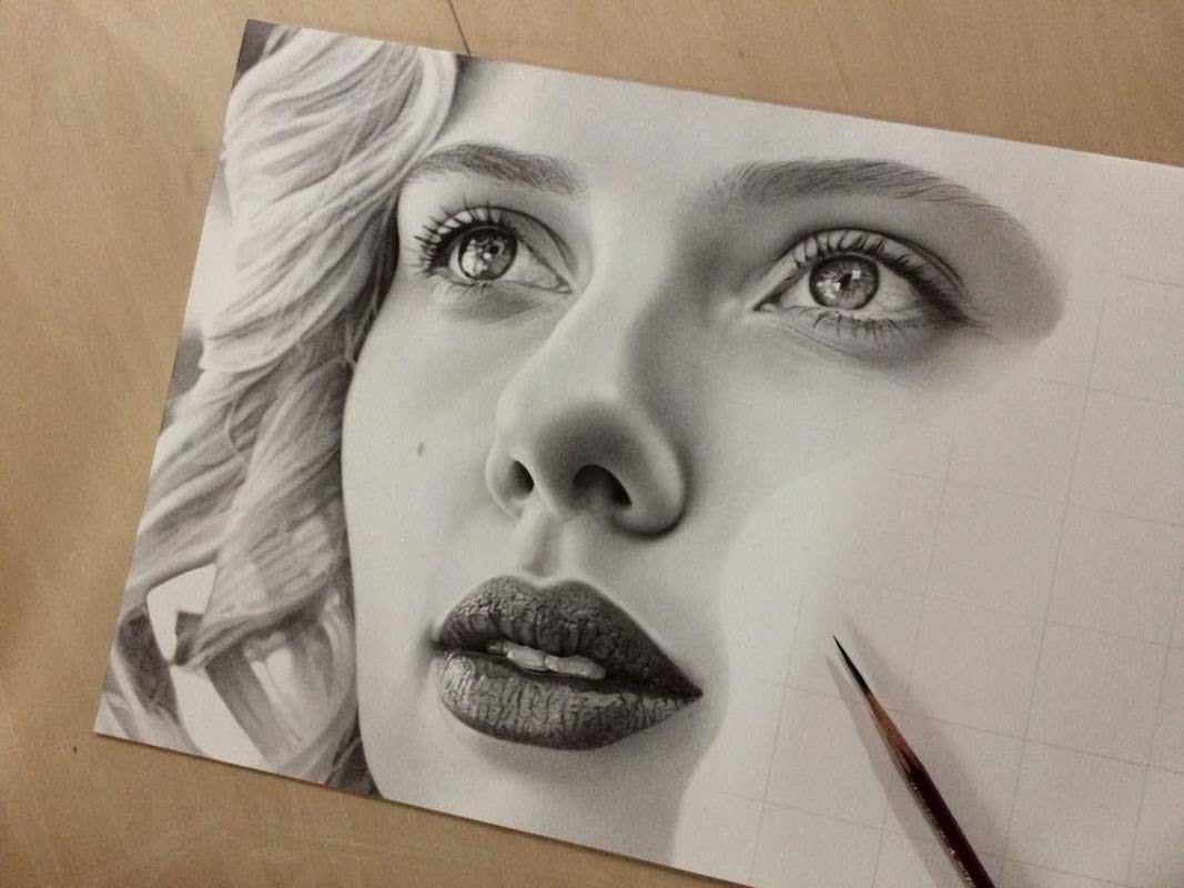 آموزش طراحی چهره برای هنرجویان مبتدی تا حرفه ای -آموزشگاه نقاشی راه کمال  الملک