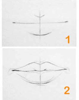 آموزش مرحله به مرحله سیاه قلم هایپررئال لب