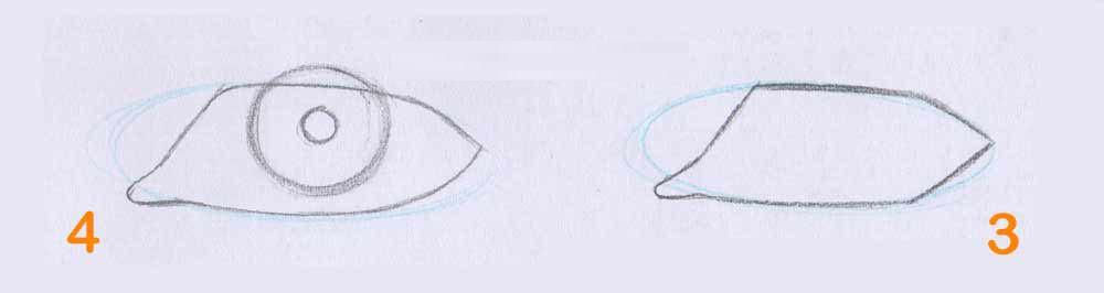 رحله دوم یادگیری سیاه قلم چشم